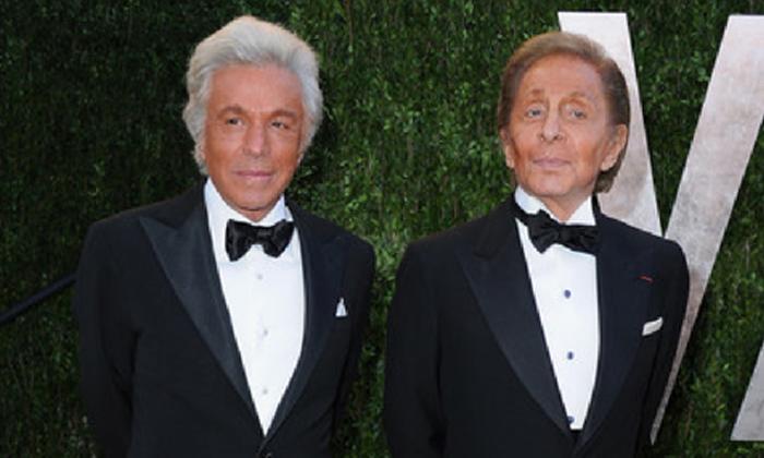 Valentino Garavani and Giancarlo Giammetti at the 2013 Vanity Fair Oscar Party