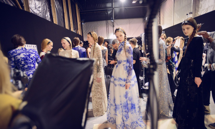 Backstage at the Valentino Fall/WInter 2013 show