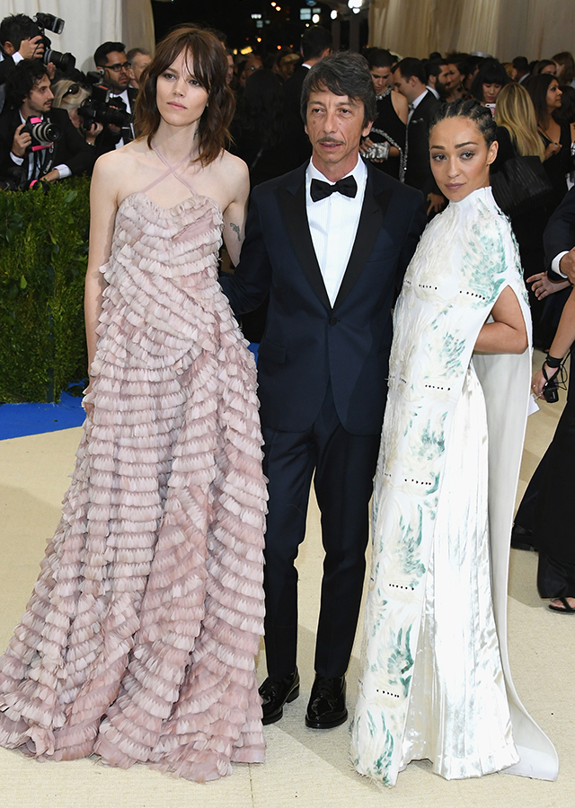 Pierpaolo Piccioli with Freja Beha Erichsen and Ruth Negga.