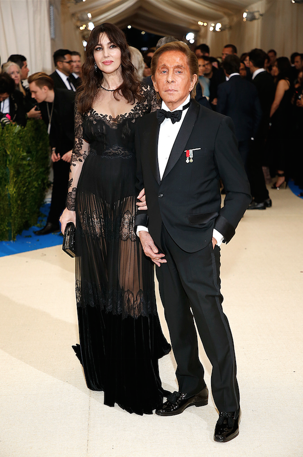 Valentino and Monica Bellucci