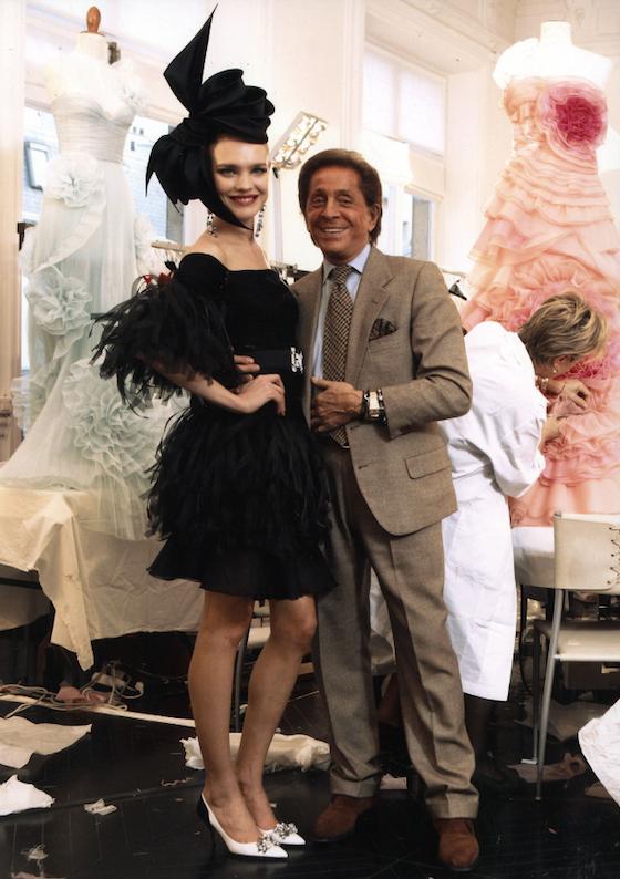 Valentino Garavani with Natalia Vodianova, 2008.