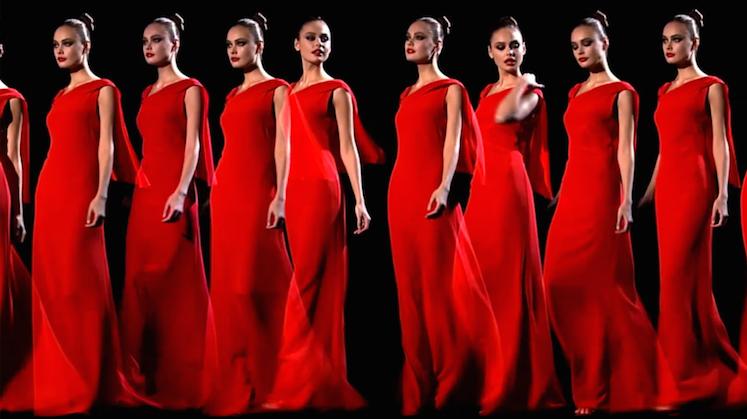 Valentino's last couture show, 2008.