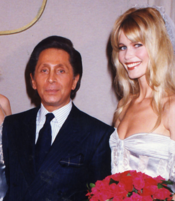 Claudia Schiffer and Mr. Valentino