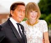 Valentino Garavani and Anna Wintour