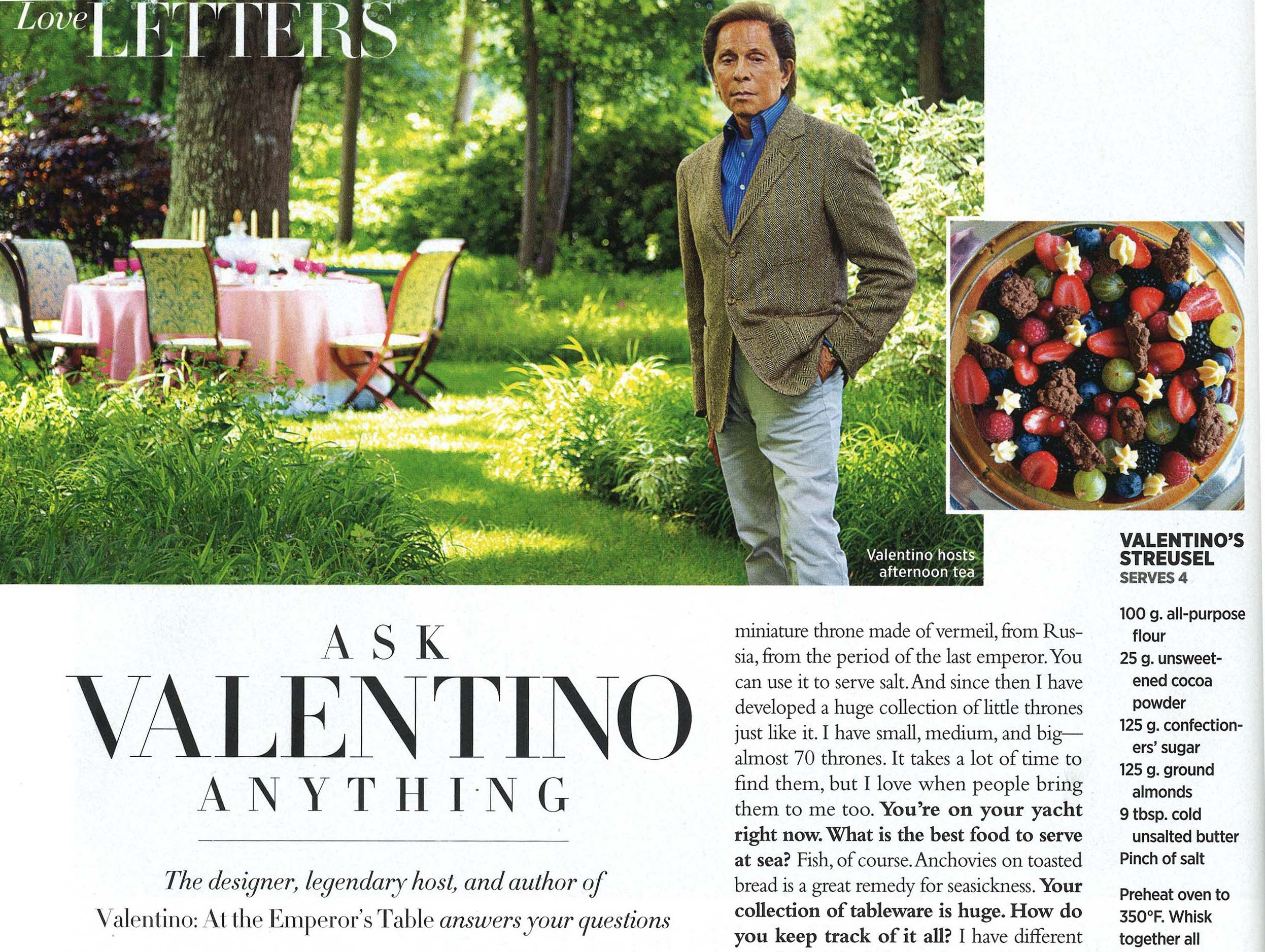 Harper's Bazaar November - Ask Valentino Anything